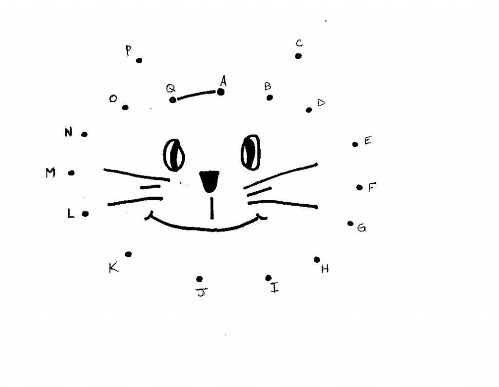 Cat Dot To Dot For Preschoolers