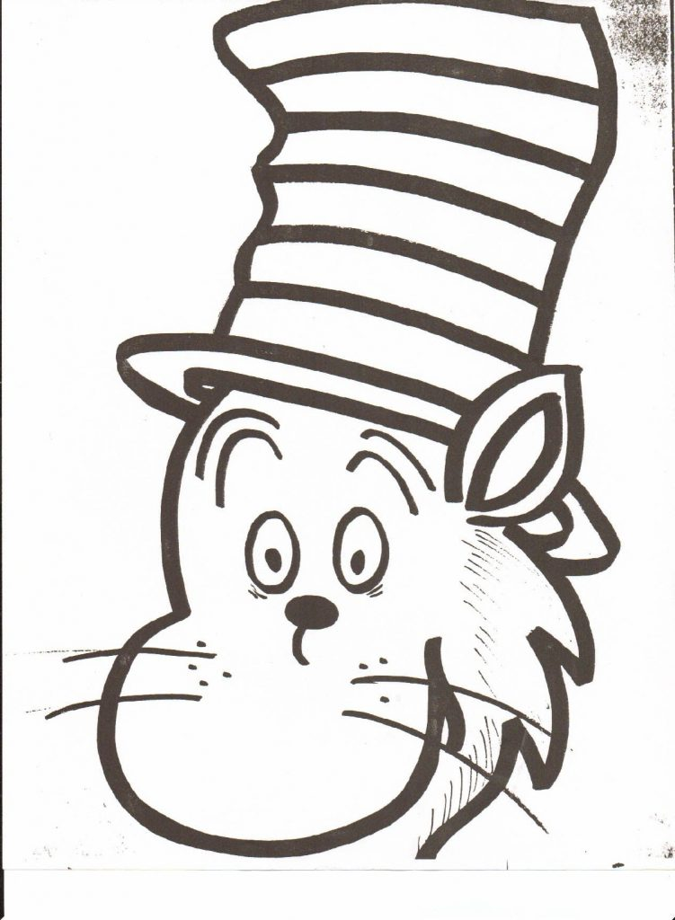 Cat In The Hat Coloring Pages Easy