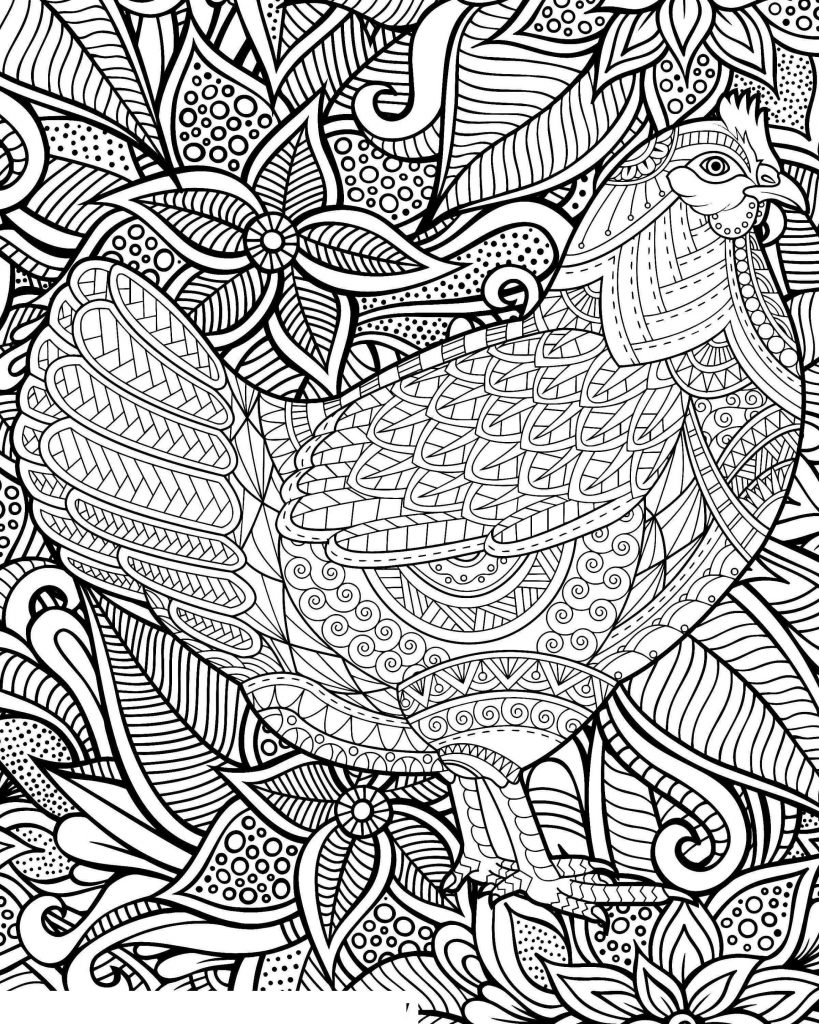 Chicken Coloring Pages For Adults
