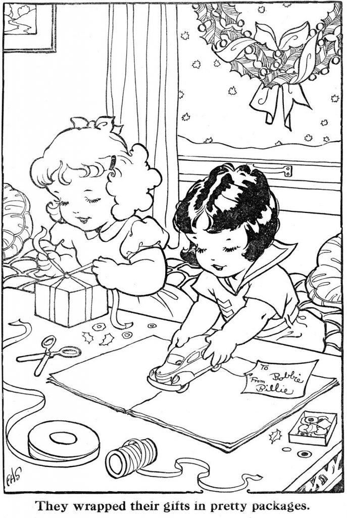 Christmas Coloring Books Retro