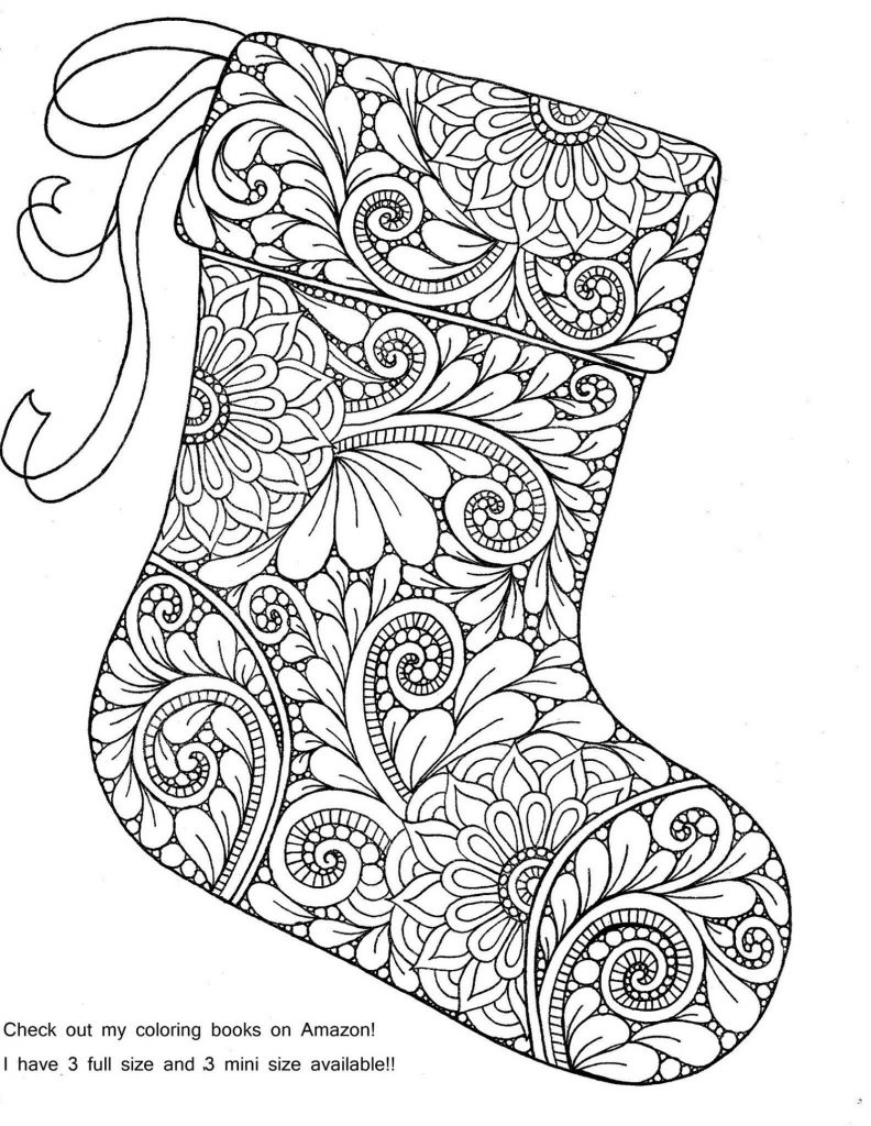 Christmas Coloring Pages For Adults Doodle