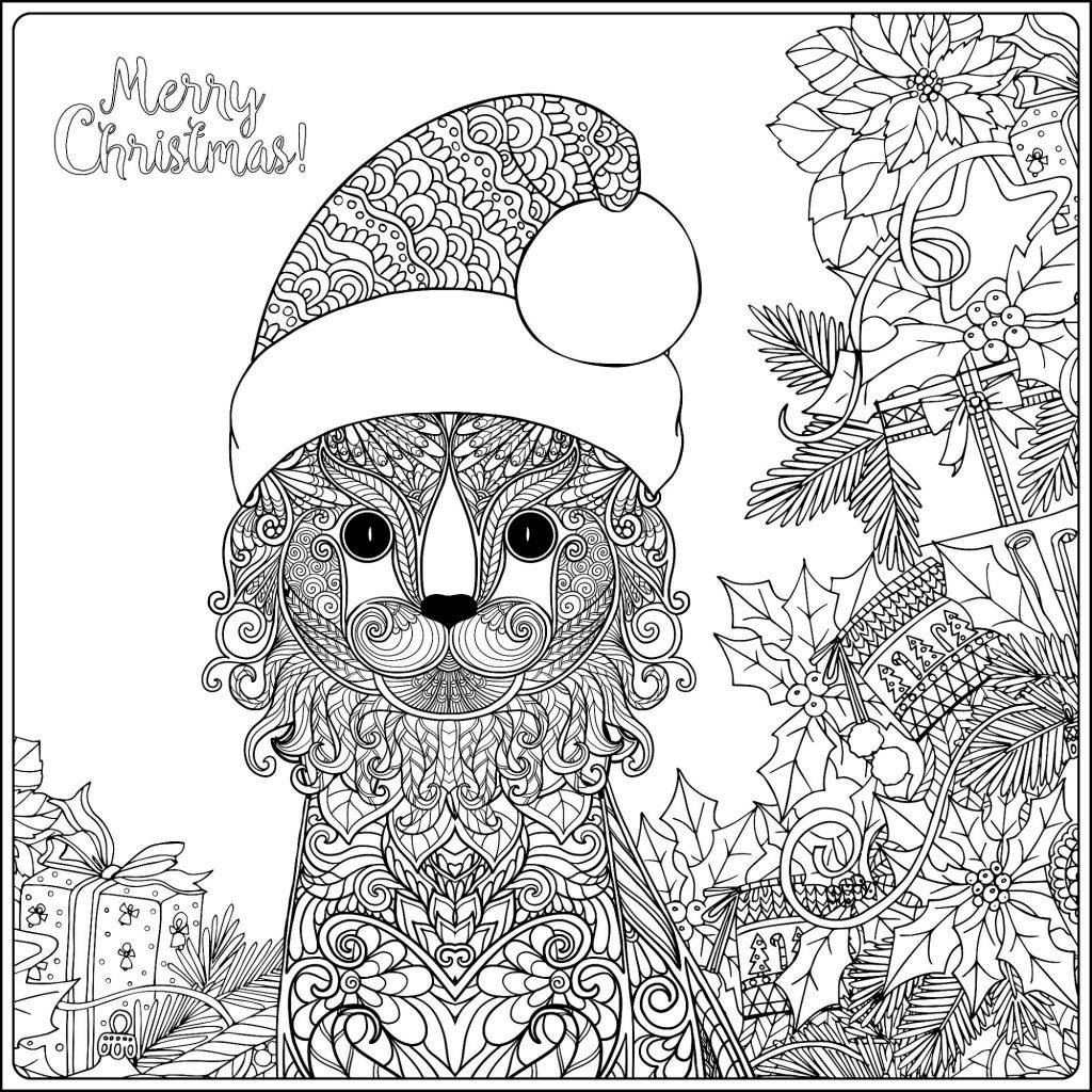 Christmas Coloring Pages For Adults Free