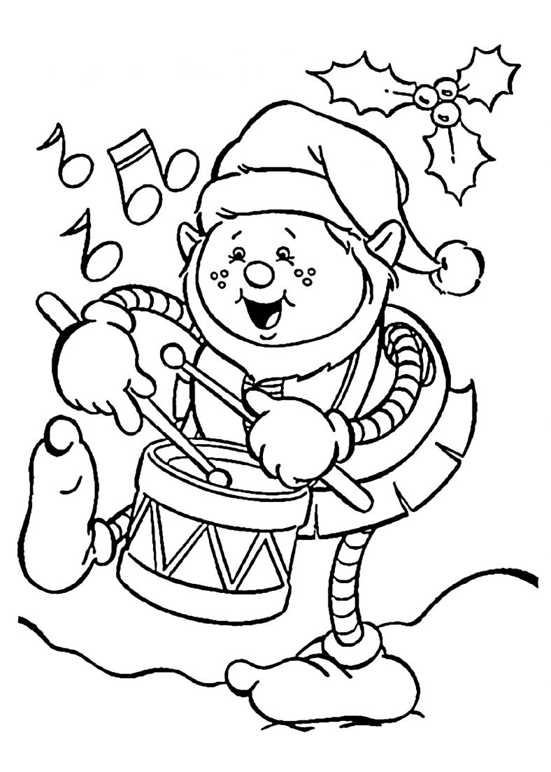 Christmas Coloring Pictures Elf