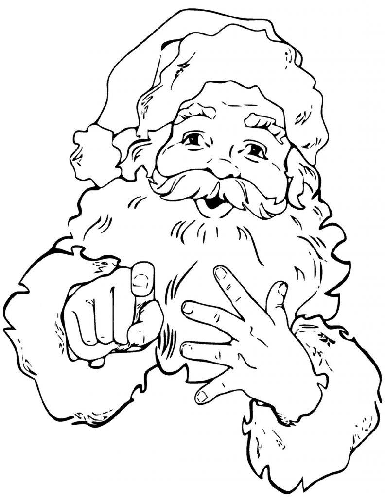 Christmas Coloring Pictures Santa Claus