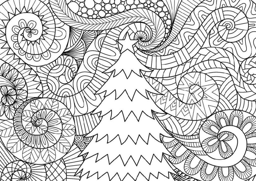 Christmas Coloring Sheets Hard