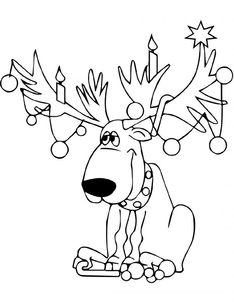 Christmas Lights Coloring Page Cartoon