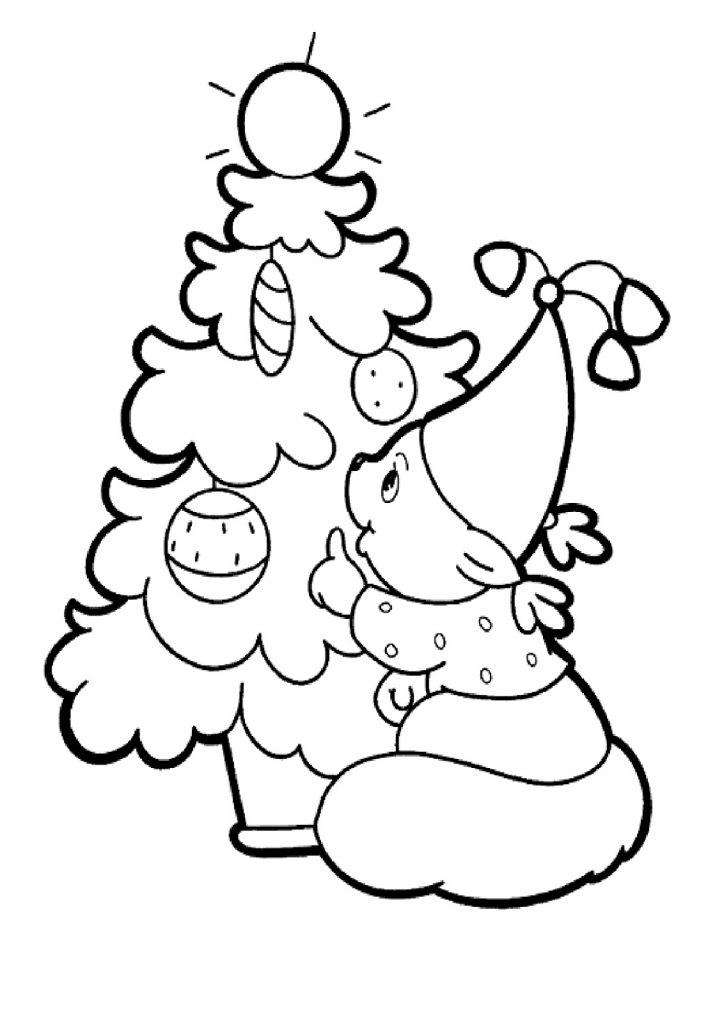 Christmas Lights Coloring Page Decorations
