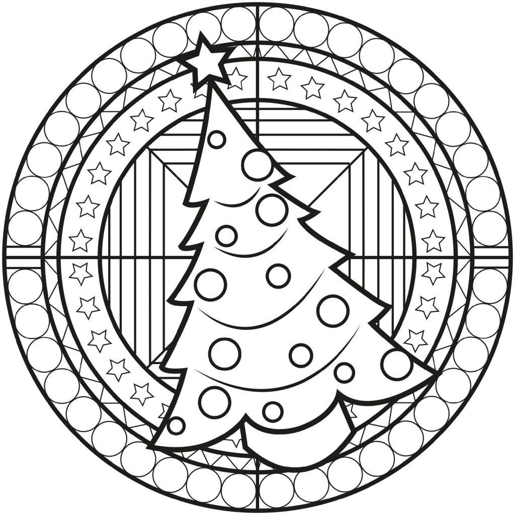 Christmas Mandala Christmas Tree