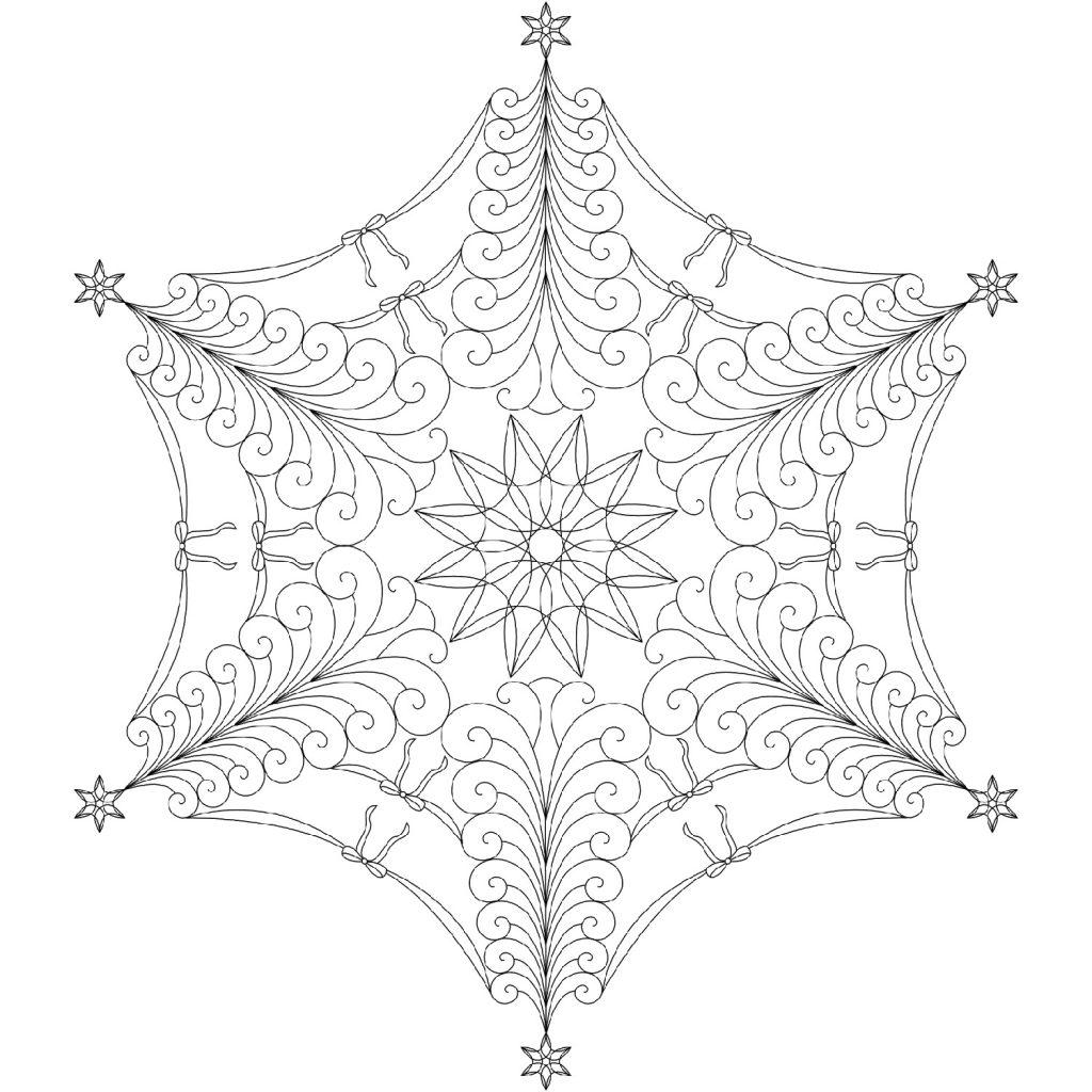 Christmas Mandala Snowflakes