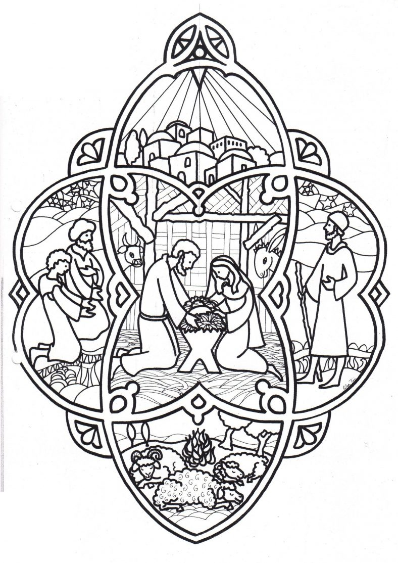 Christmas Ornament Coloring Page Detailed