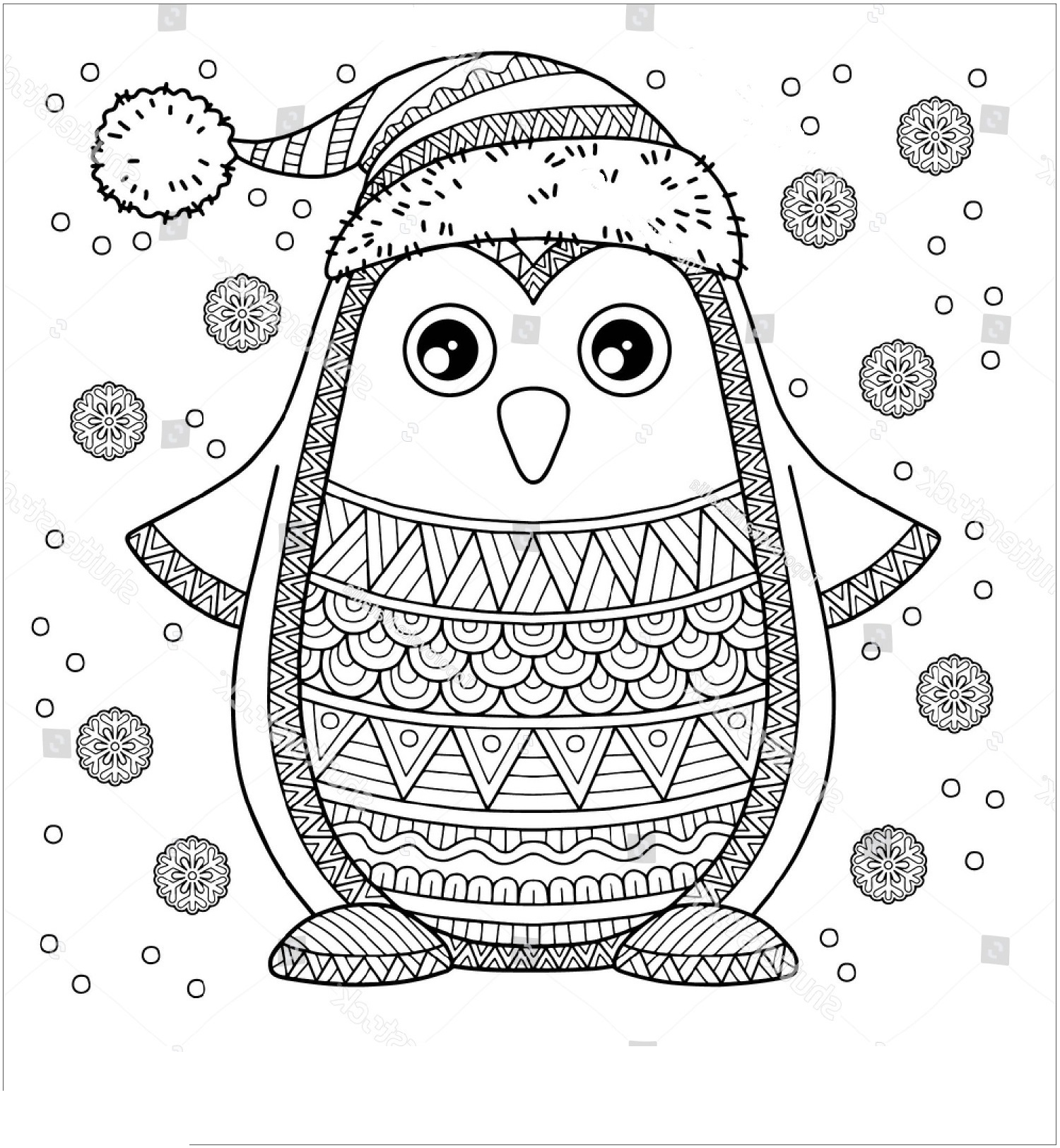 Printable Cute Penguin Coloring Pages | 101 Coloring
