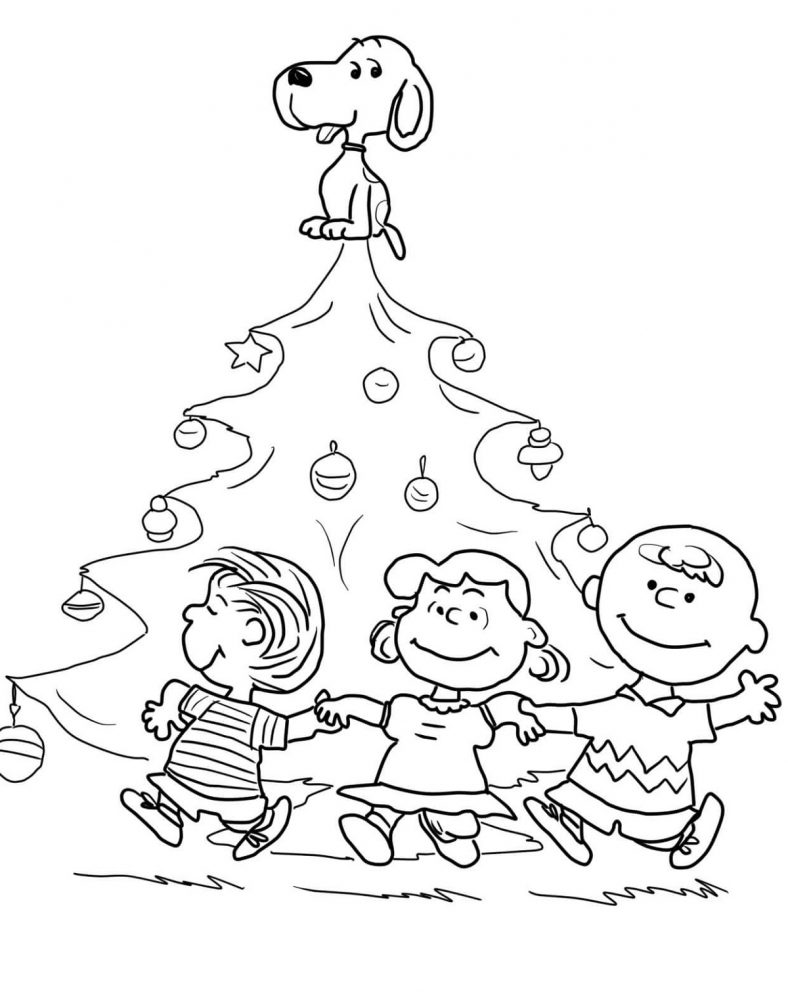 Christmas Tree Coloring Page Charlie Brown