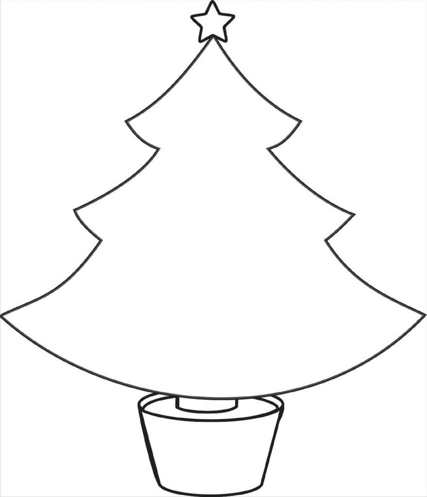 Christmas Tree Coloring Sheet Blank