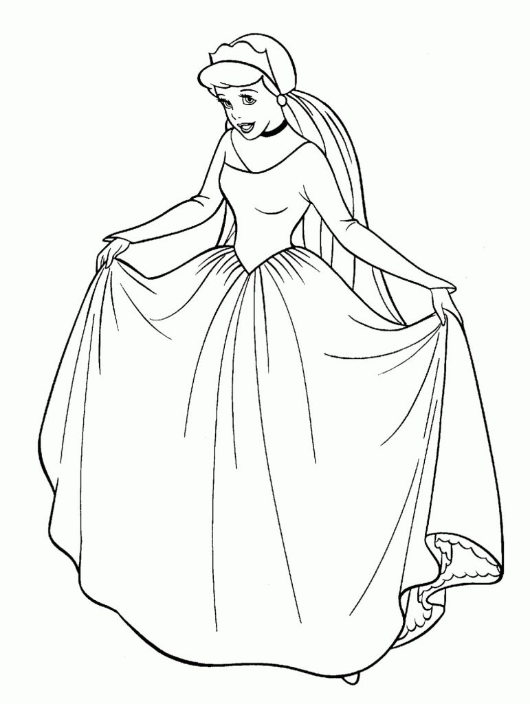 Cinderella Coloring Pages Dress