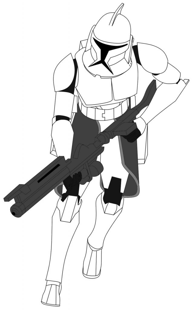 Clone Trooper Coloring Pages Art