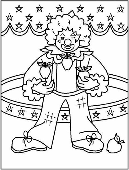 Clown Coloring Pages Carnival