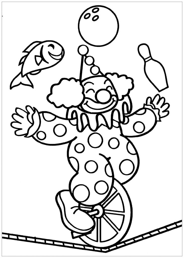 Clown Coloring Pages Circus