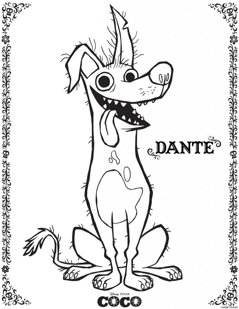 Coco Coloring Pages Dante