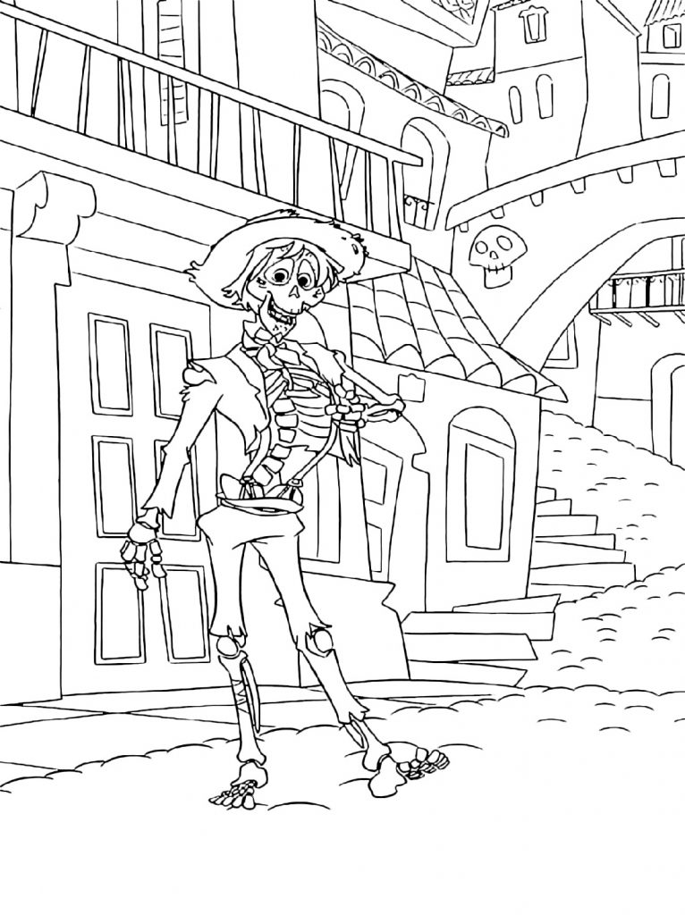Coco Coloring Pages Hector