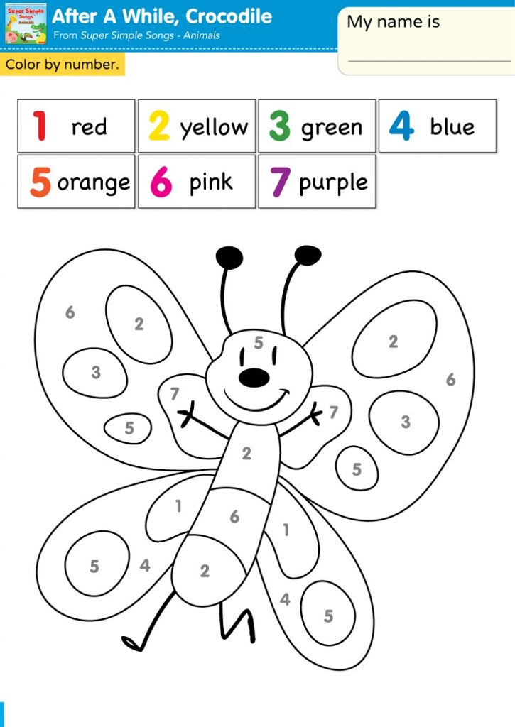 Color By Number For Kids Easy