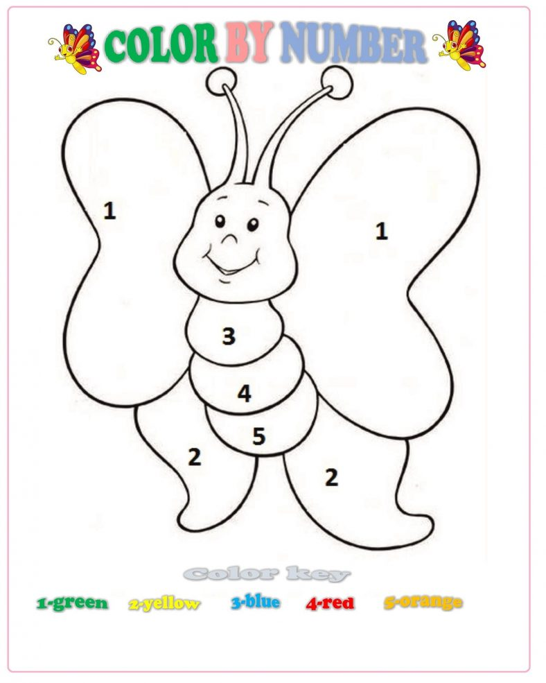 Color By Number For Kids For Preschool