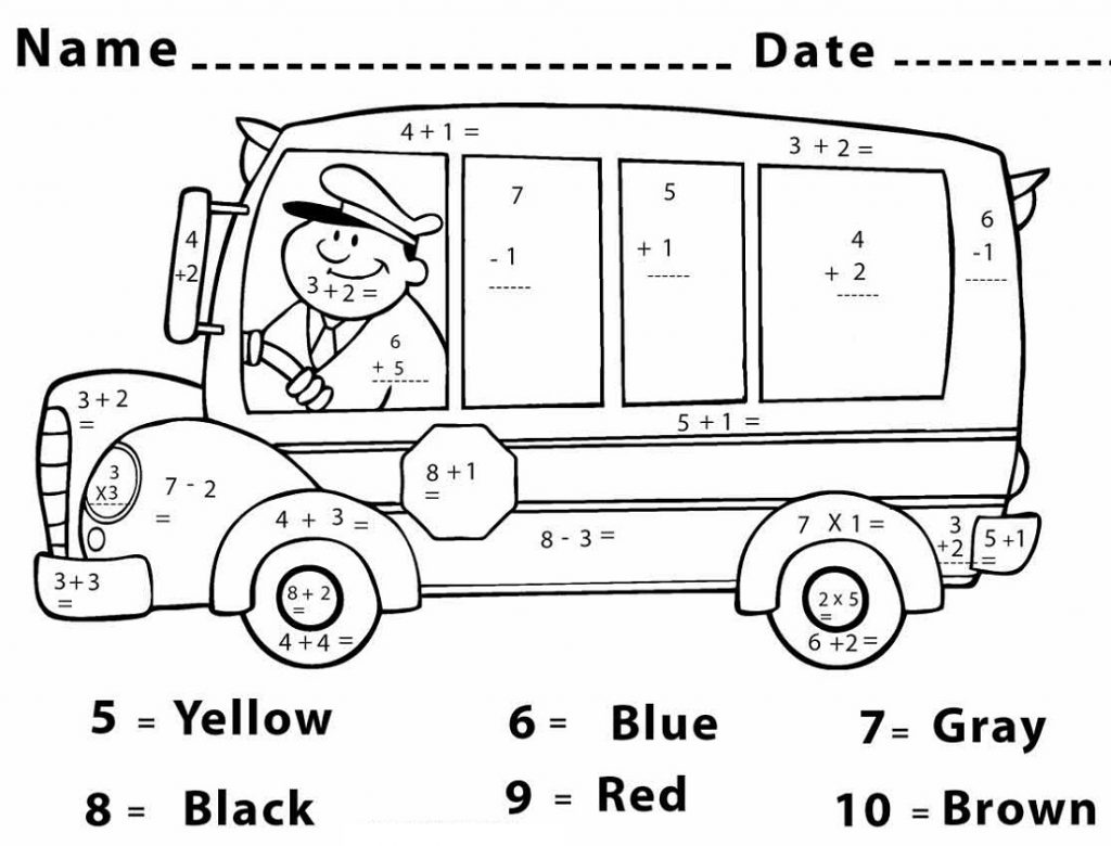 Color By Number Free Printables Math