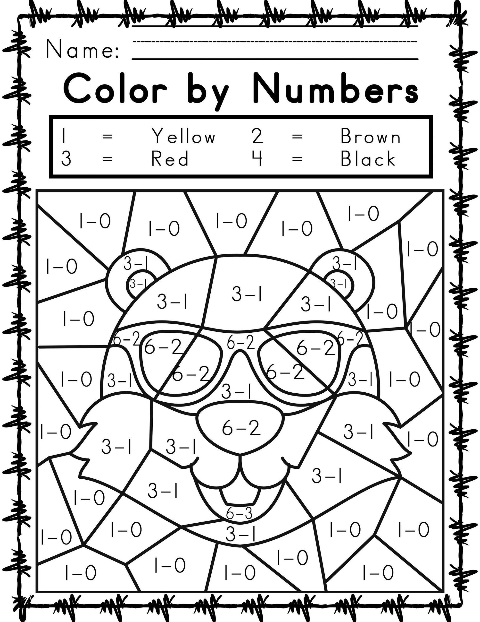 Printable Easy And Hard Color By Number Games 101 Coloring