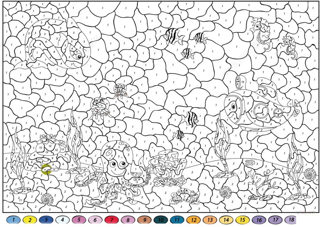 Color By Number Printable Fun 101 Coloring