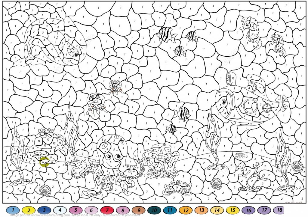 Color By Number Printables For Adults Easy
