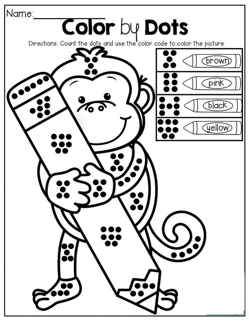 Color By Number Worksheets For Kindergarten Activities