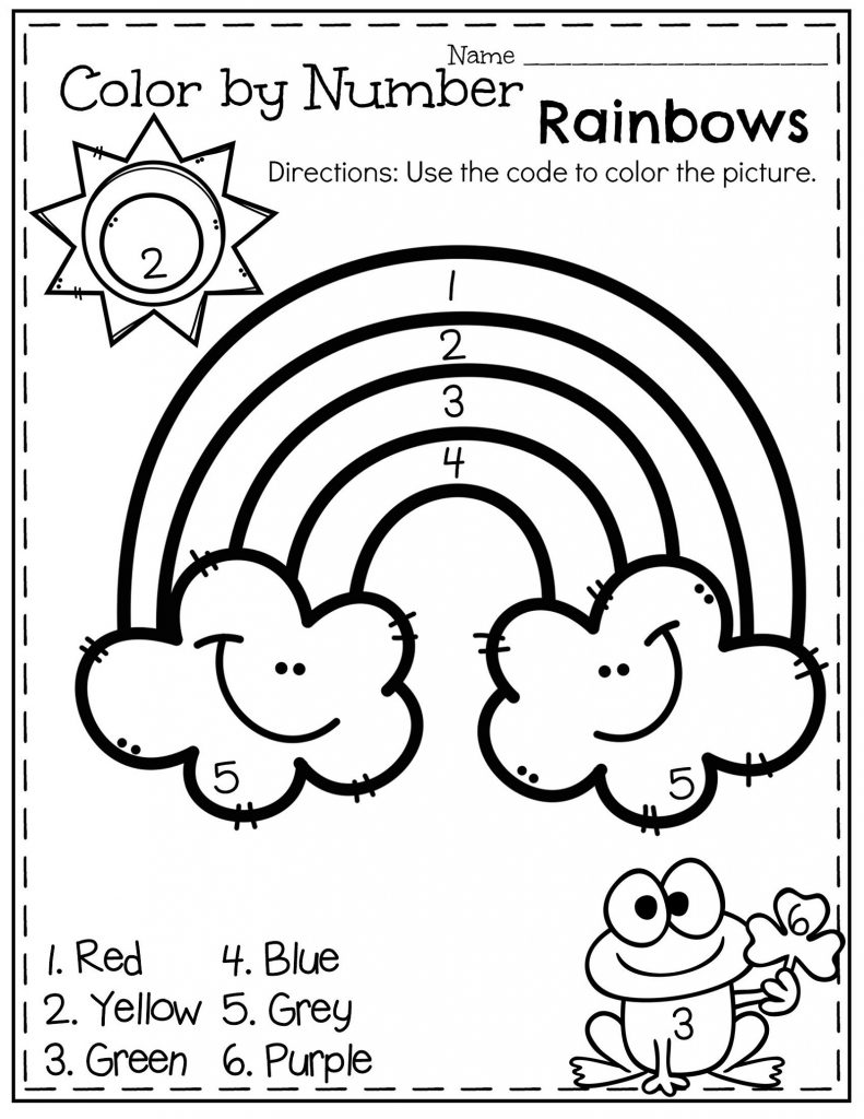 Count And Color Worksheets For Kindergarten