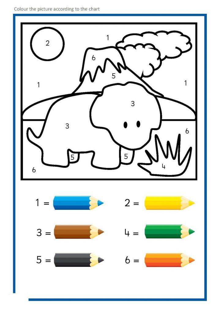 Color By Number Worksheets For Kindergarten Simple