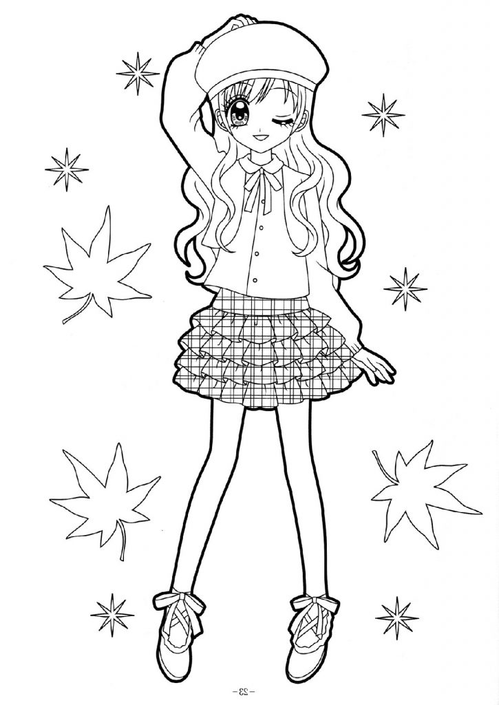 Coloring Pages For Girls Anime