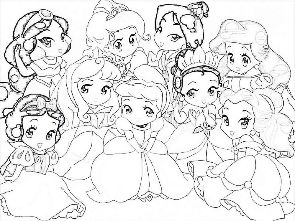Coloring Pages For Girls Disney