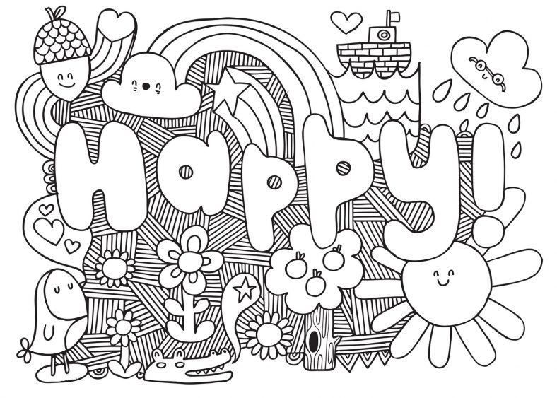 Coloring Pages For Teens Pattern