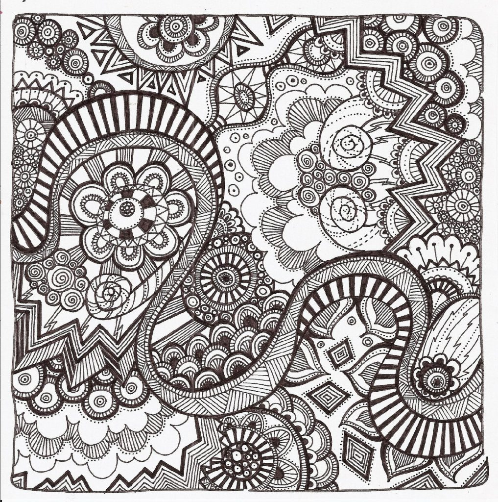 Coloring Pages For Teens Zentangle