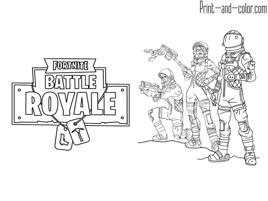 Coloring Pages Fortnite Battle Royale