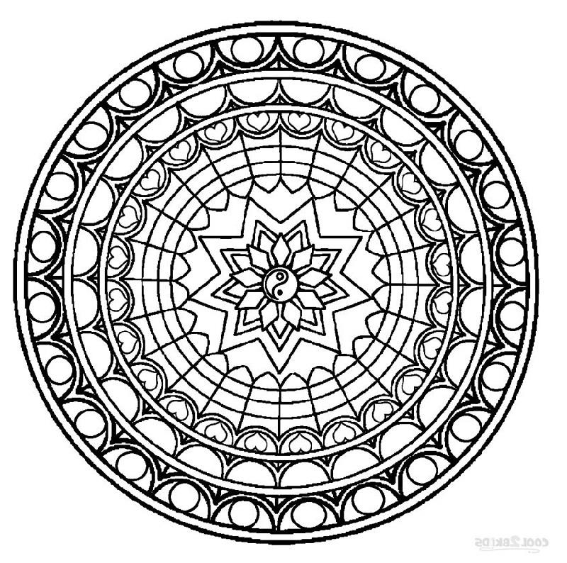 Coloring Pages Online Mandala