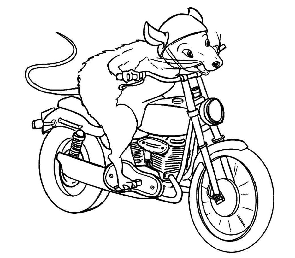 Coloring Sheets For Boys Motorcycle