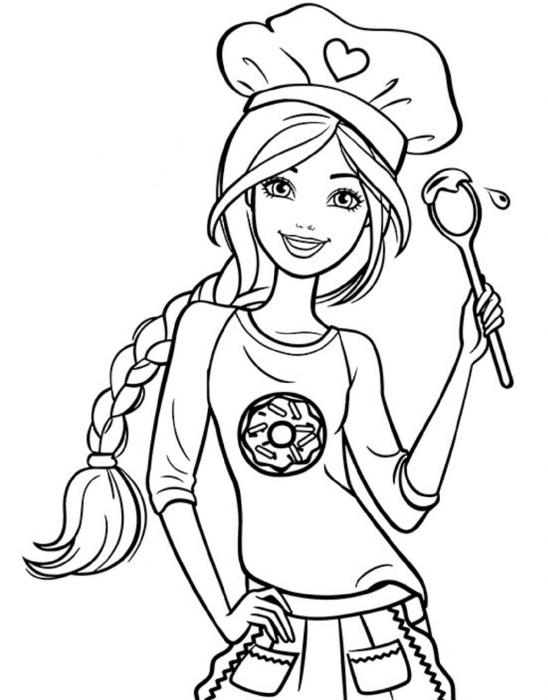 Coloring Sheets For Girls Barbie