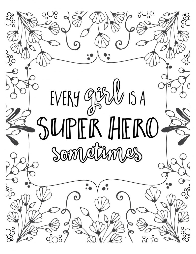 Coloring Sheets For Girls Quotes