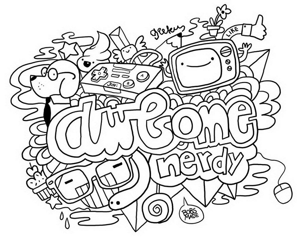 Coloring Sheets For Teens Doodle