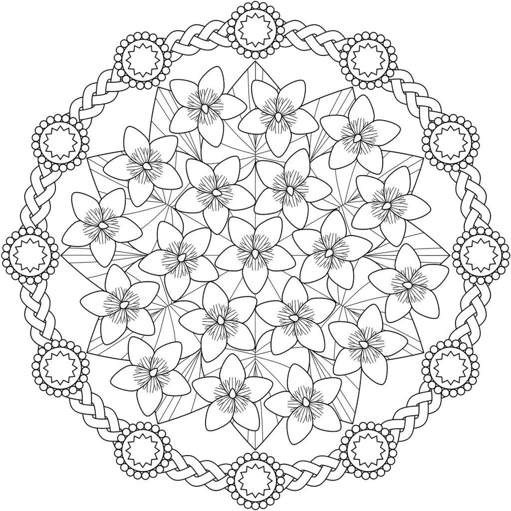 Coloring Sheets For Teens Mandala