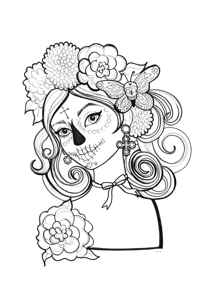 Coloring Sheets For Teens Skull
