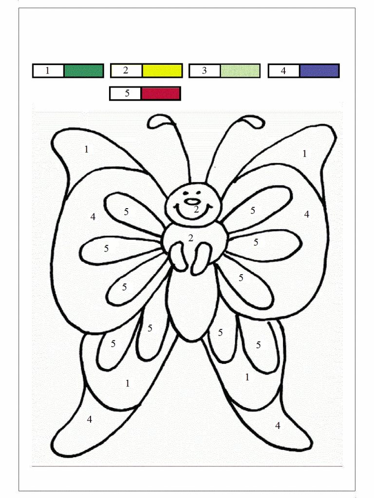 Coloring Worksheets Color By Numbers