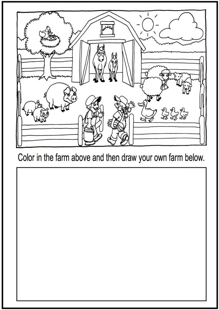 Coloring Worksheets For Kindergarten Animal