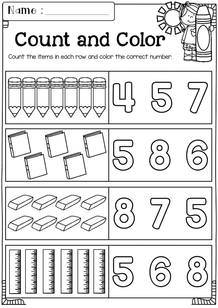 Coloring Worksheets For Kindergarten Math
