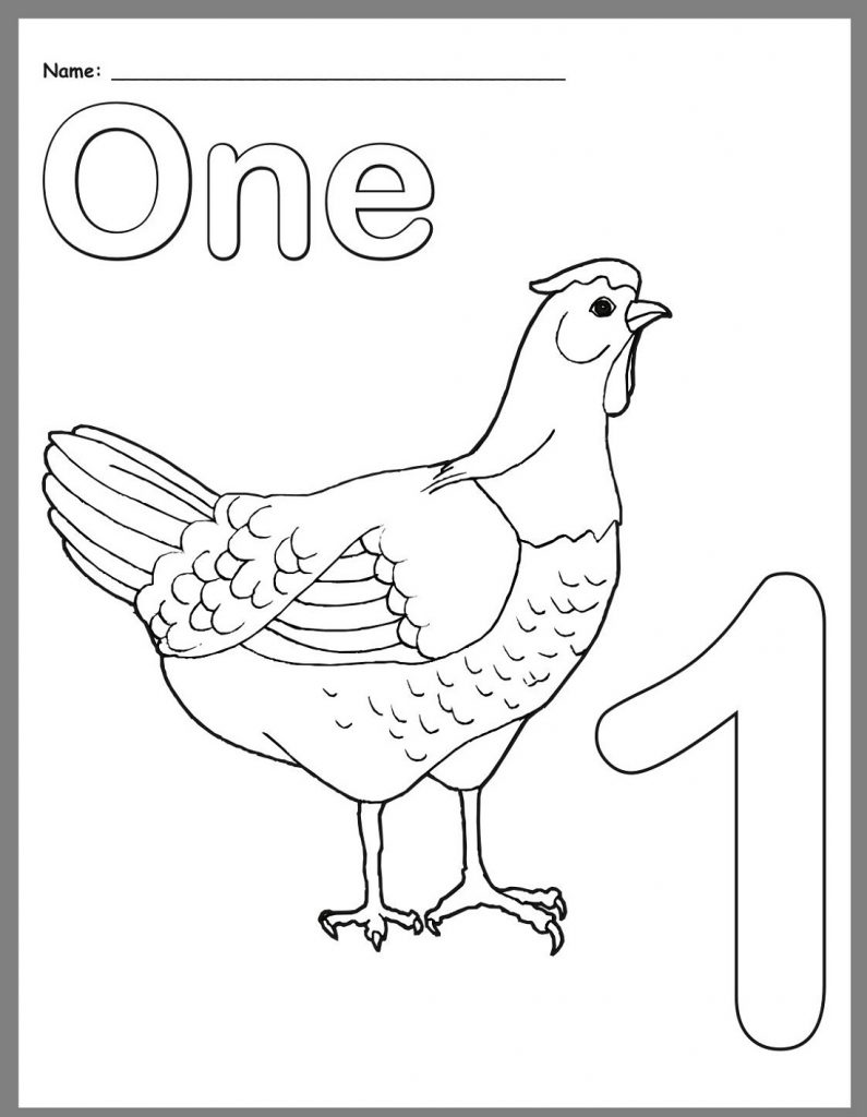 Coloring Worksheets For Kindergarten Number