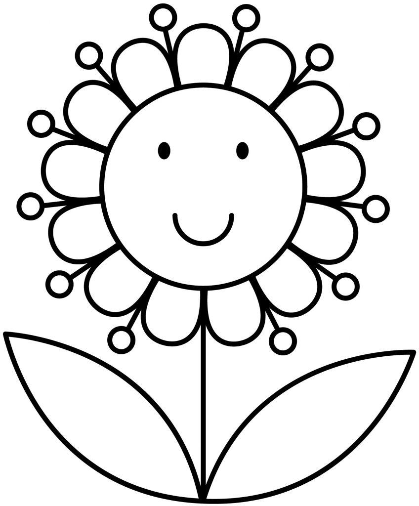 Coloring Worksheets For Preschool Flower