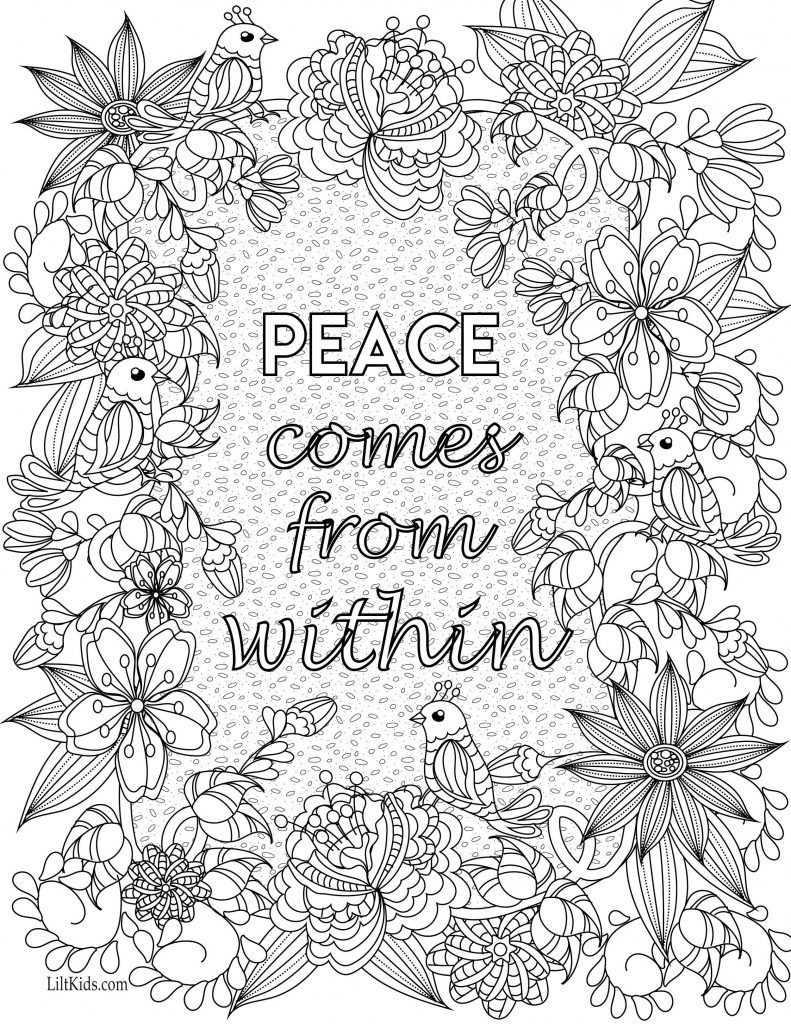 Coloring Worksheets Quotes